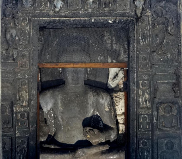Buddha Idol in cave number 7 - Ajanta caves