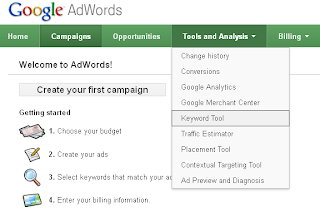 Using Google AdWords Keyword Tool