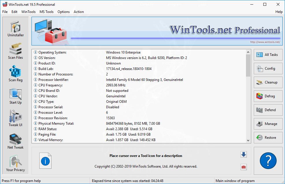 تحميل برنامج WinTools.net Professional / Premium 20.3 لتحسين النظام مع خيارات وأدوات لزيادة أداء نظام التشغيل