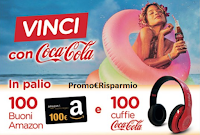 Logo ''Vinci con Coca-Cola e Chef Express'' 100 buoni Amazon da 100€ e 100 Cuffie Wireless