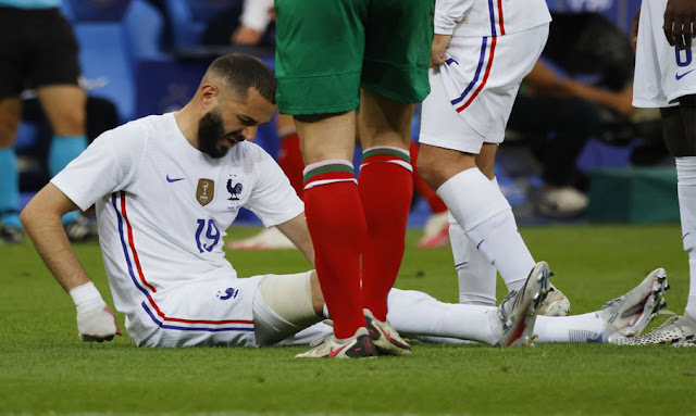 Inquiétude et frayeur pour Benzema, blessé contre la Bulgarie