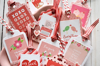 Quick and easy valentine's day tags by Wendy Sue Anderson