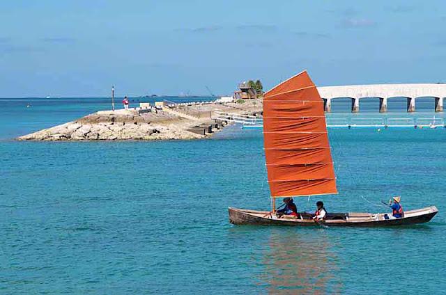 sailing sabani, Itoman, Okinawa