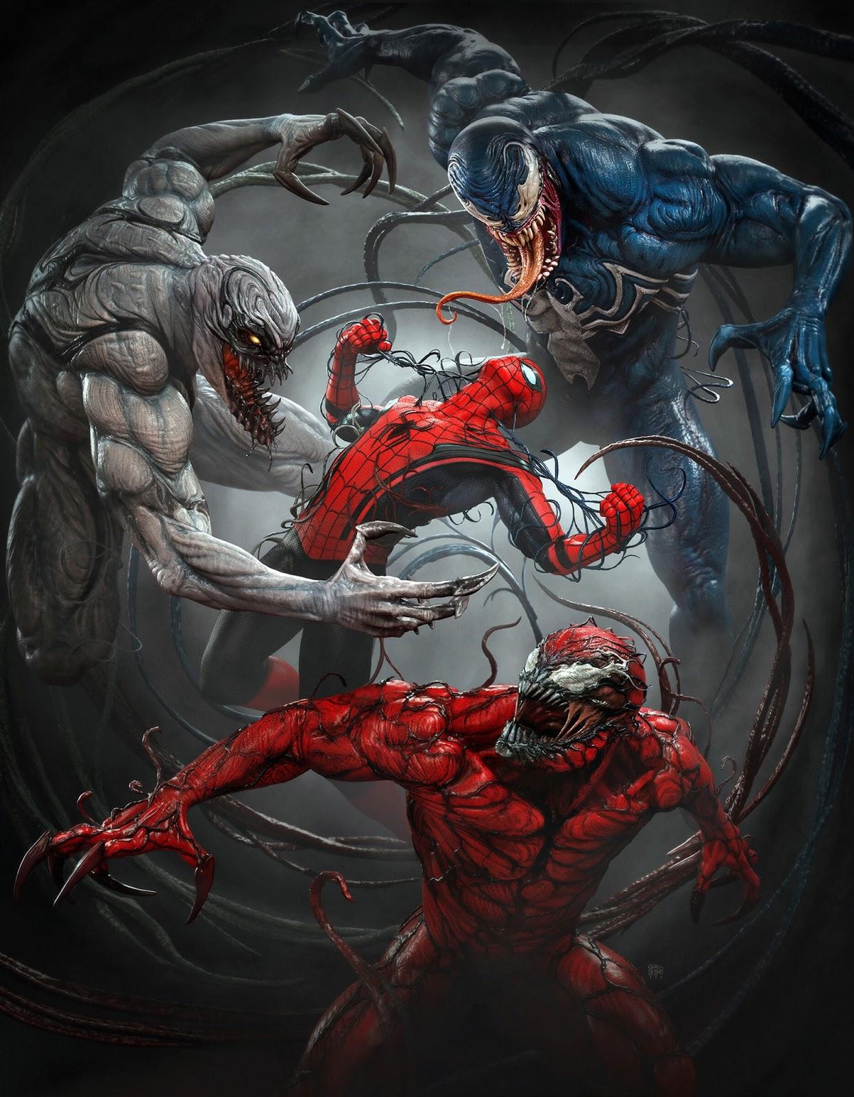 SpiderMan and Venom - FanArt