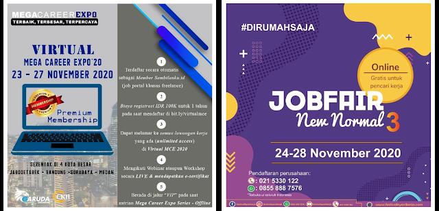 Jadwal Job Fair Lengkap di Bulan November 2020