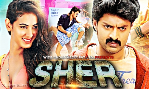 Poster of Sher 2015 UNCUT HDRip 900Mb Dual Audio 720p Watch Online Free Download bolly4u