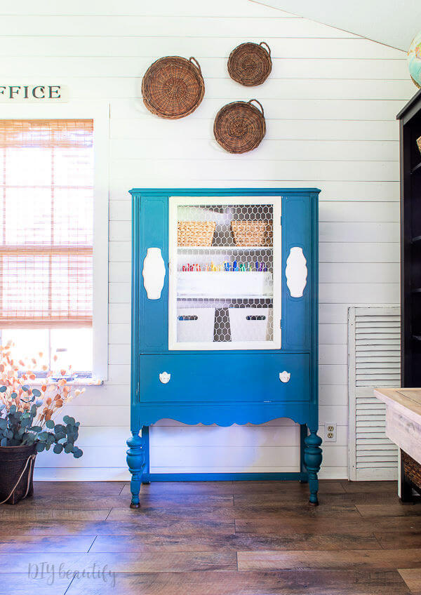 styling cabinet with baskets