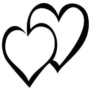 תבניות לבבות לצביעה