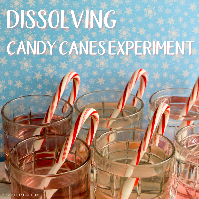 Dissolving candy canes experiment