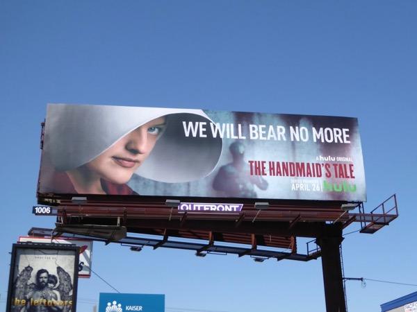 Elisabeth Moss Handmaids Tale TV billboard