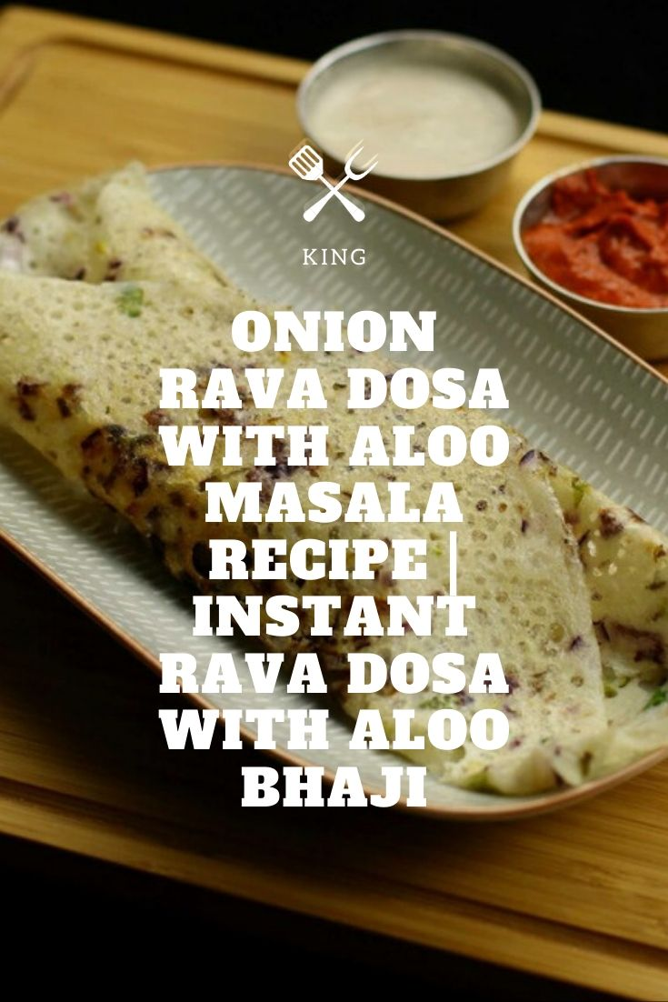 onion rava dosa with aloo masala recipe | instant rava dosa with aloo bhaji