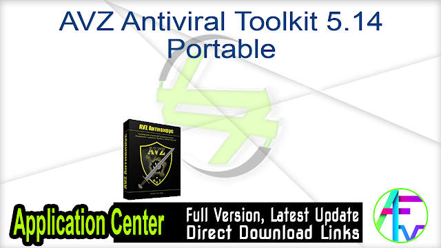 AVZ Antiviral Toolkit 5.14 Portable