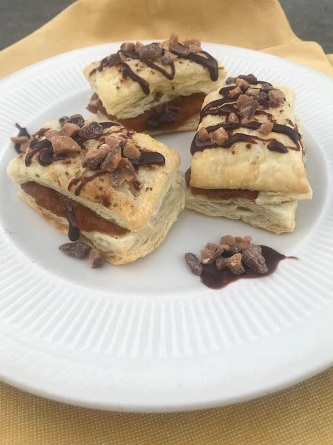 Easy Pumpkin Turnovers w/ a Chocolate Candy Drizzle