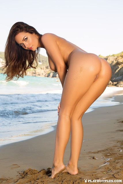 Adrienn Levai showing her naked ass rear pose