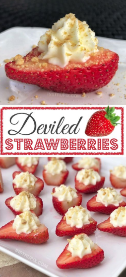 These Deviled Strawberries won't last more than 5 minutes! They're a hit at any party