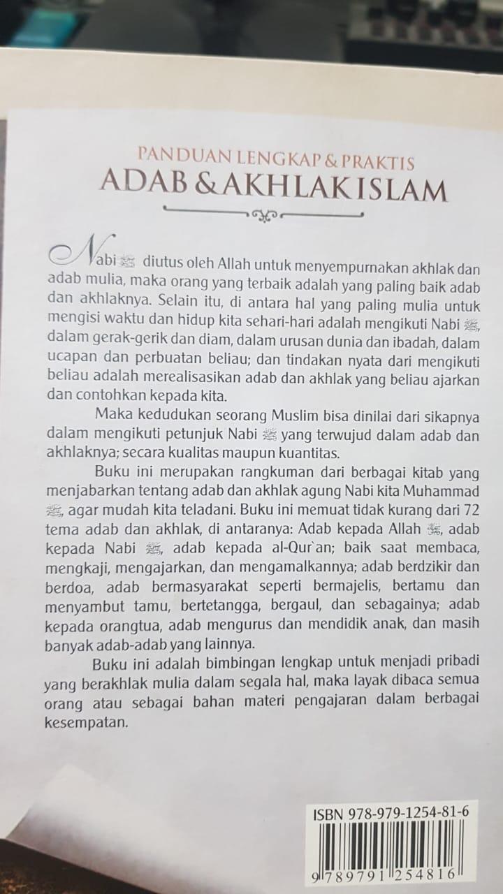 sampul belakang Buku Adab & Akhlak Islami - Majid Sa'ud Al-Ausyan
