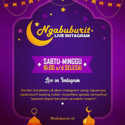 Podcast Cuber Indonesia mengadakan live spesial ramadhan untuk menemani ngabuburit cuber nusantara.