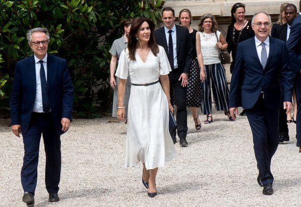 Crown Princess Mary visited Danish artist Sonja Ferlov Mancoba's exhibition at Pompidou Center together with Firsy Lady Brigitte Macron