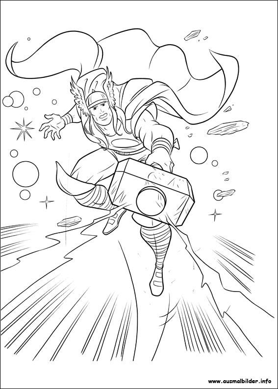 Thor Ausmalbild Avengers Ausmalbilder Gratis - Malvorlage