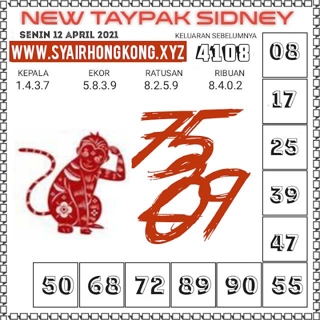 Syair Sydney taypak 12 April 2021