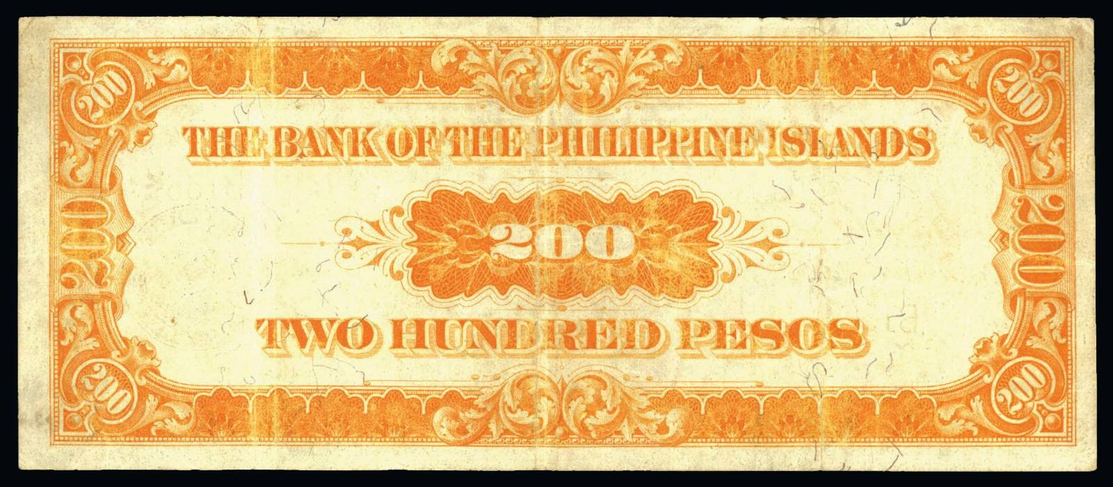 1912 Two Hundred Pesos 200 Bank of the Philippine Islands