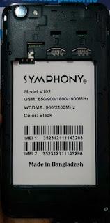 Symphony V102 Flash File