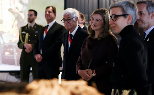Princess Stephanie attended the opening of the new contemporary art space Konschthal Esch in Esch-sur-Alzette