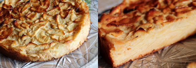 Superkuchen Rezeptfoto - Apfelkuchen mit Vanille von außen und innen