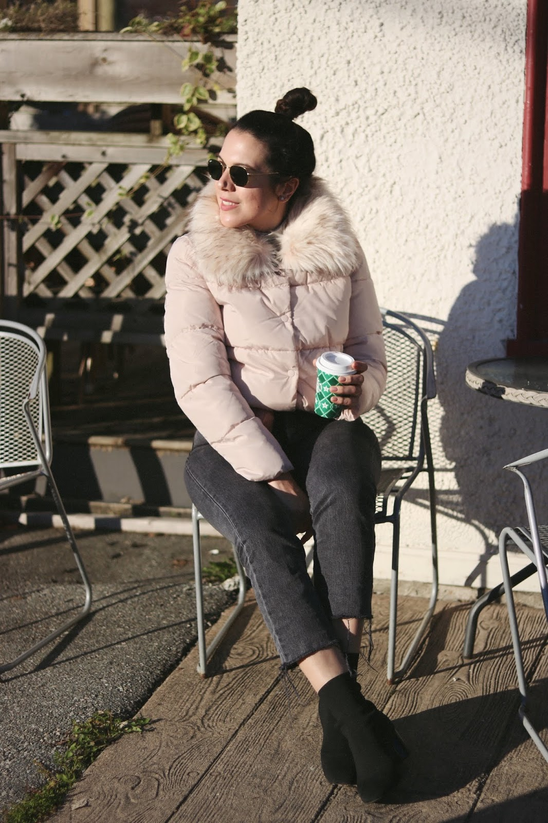Le Chateau Faux Fur Collar Puffer Jacket outfit vancouver blogger aleesha harris