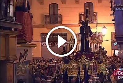Los Gitanos en Campana en la Madrugá de la Semana Santa de Sevilla 2015 para llegar a la calle sierpes