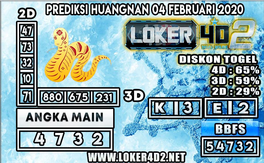 PREDIKSI TOGEL HUANGNAN LOKER4D2 04 FEBRUARI 2020
