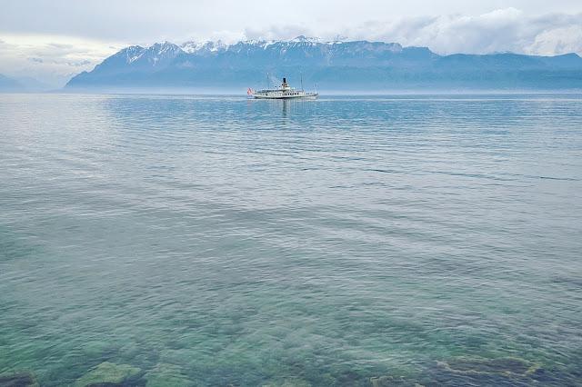 Geneva to Lausanne to Montreux weekend: Boat on Lake Geneva (aka Lac Léman)