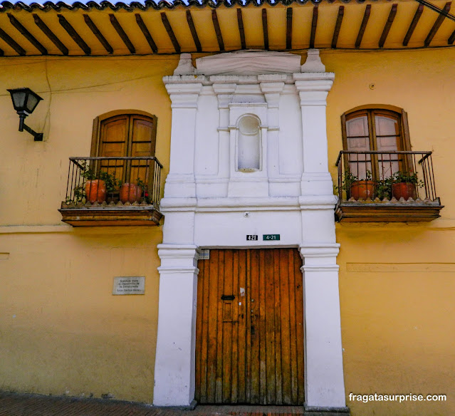 casarão colonial no bairro de La Candelaria, Bogotá