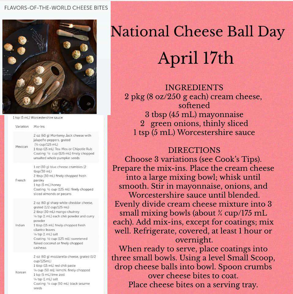 National Cheese Ball Day Wishes for Instagram