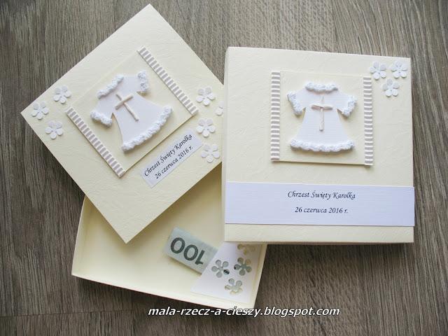 Jak zrobić pudełko płaskie do kartki na Chrzest, Ślub, Komunię? DIY
