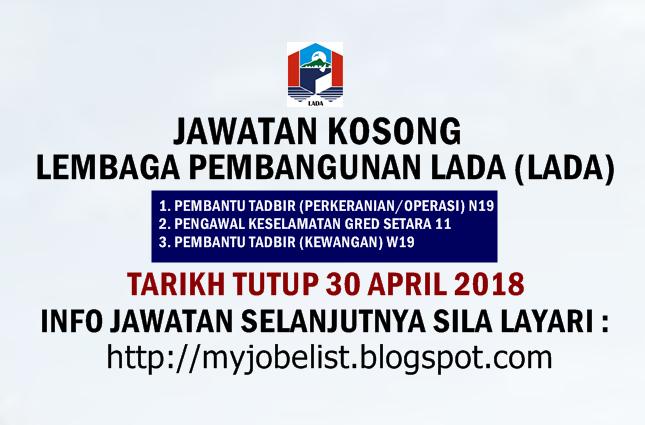 Jawatan Kosong Lembaga Pembangunan Langkawi (LADA) April 2018
