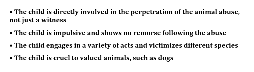 Cruelty to Animals and Human Violence