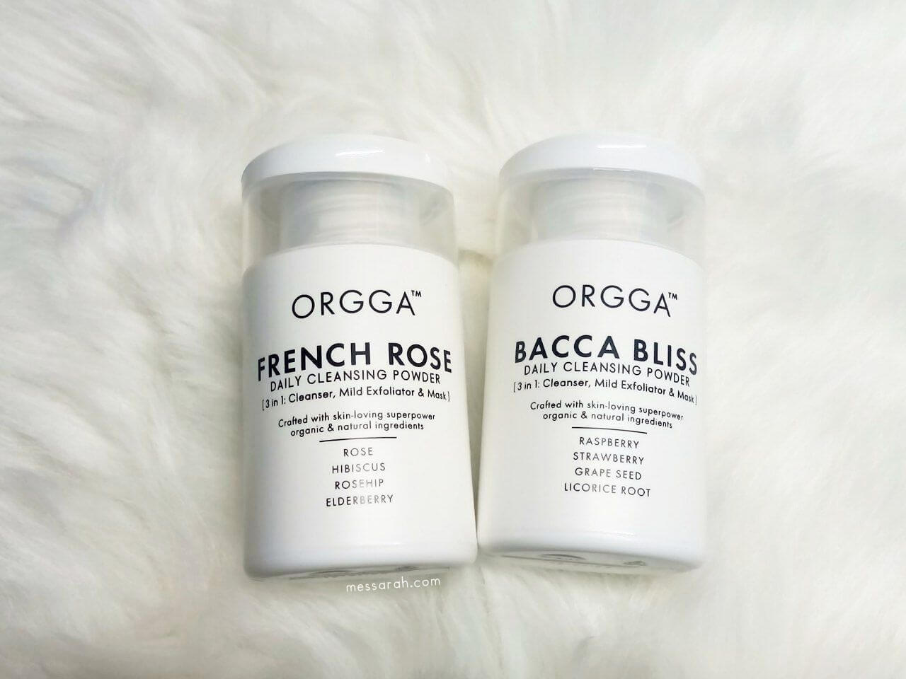 French Rose and Bacca Bliss Daily Cleansing Powder