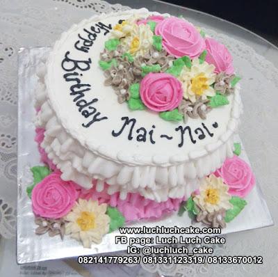 Kue Tart Renda Bunga Cantik