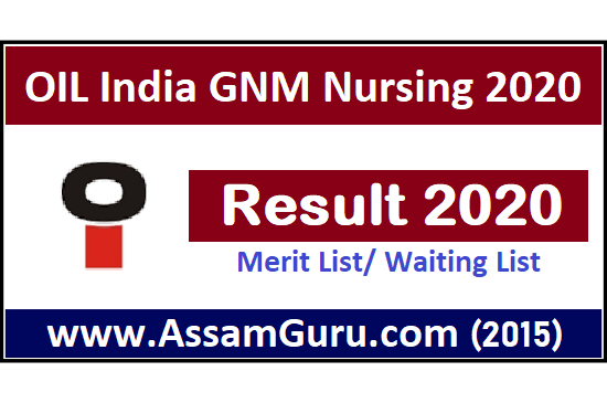 OIL India GNM Nursing Result 2020