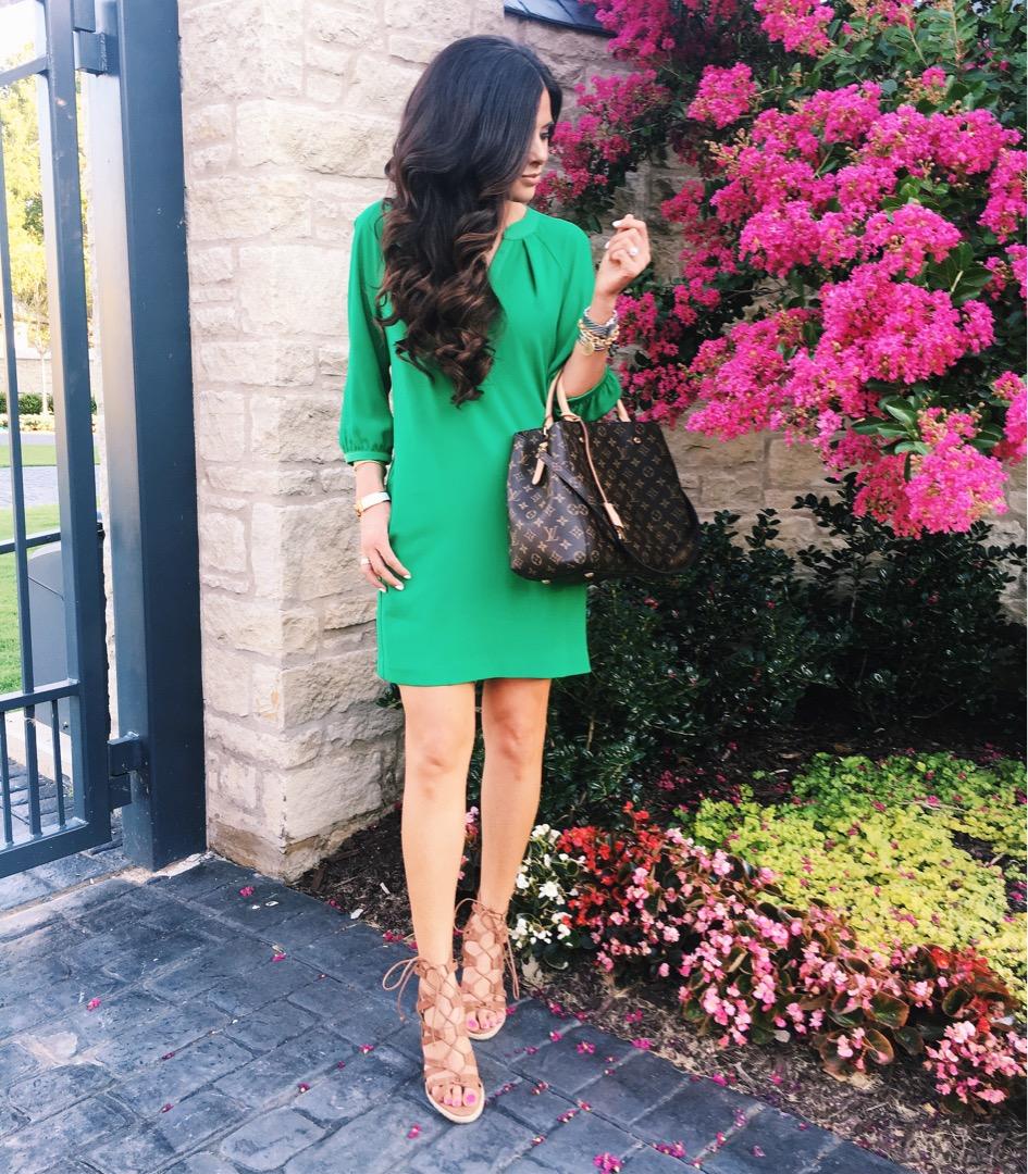 green trina turk dress