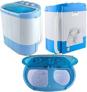 2-In-1 Compact Twin Tub Pyle Washer Spinner - Home Appliances