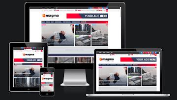 Magma Responsive Magazine Blogger Template Download
