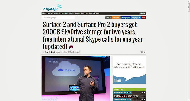 Microsoft Surface 2 and Surface Pro 2 brings free Skype WIFI calls & Skydrive storage