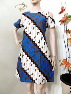 Dress Batik Parang Sabrina Biru