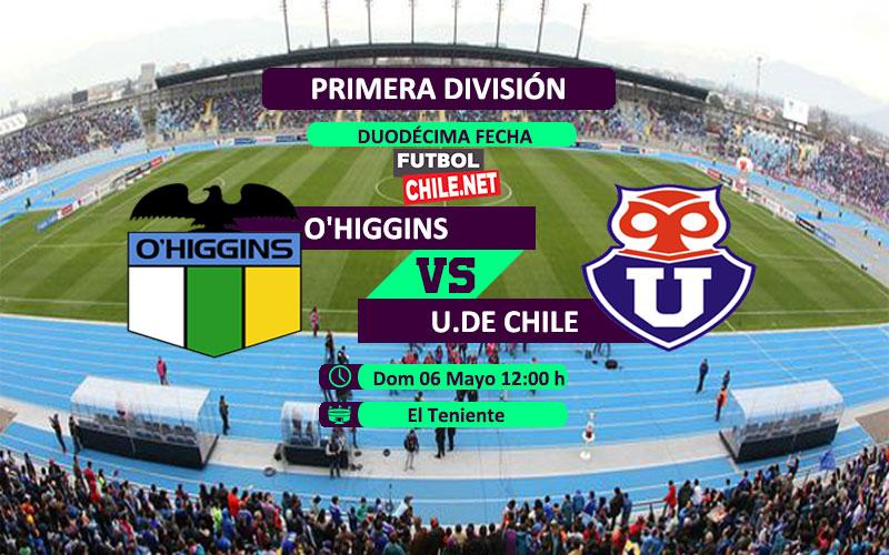 O´Higgins vs Universidad de Chile: Previa, horario, dónde ver en vivo por TV y online por la Primera División