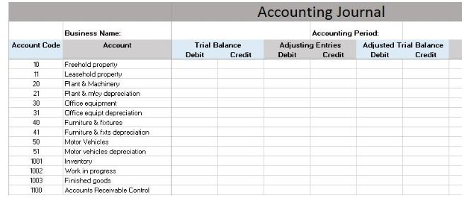Download Free General Ledger In Excel Format