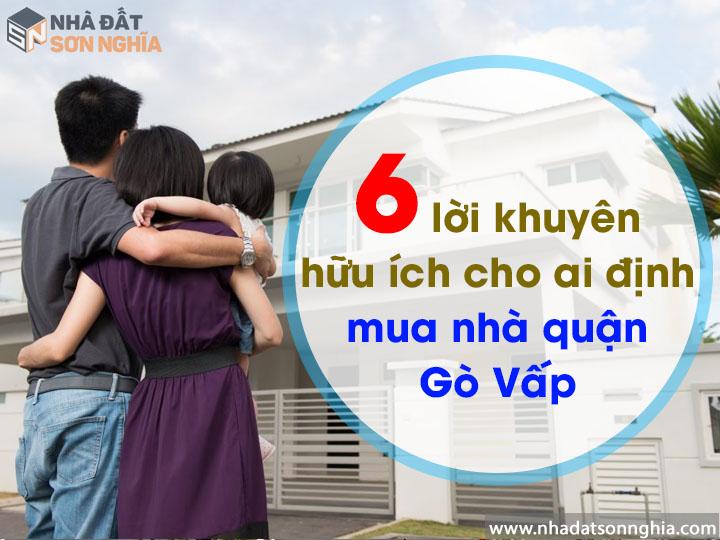 6 lời khuyên hữu ích giúp mua nhà quận Gò Vấp