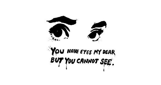 Kasus Novel Baswedan, Poster Sepasang Mata Langsung Sindir Negara: Mereka Melihat tapi Buta