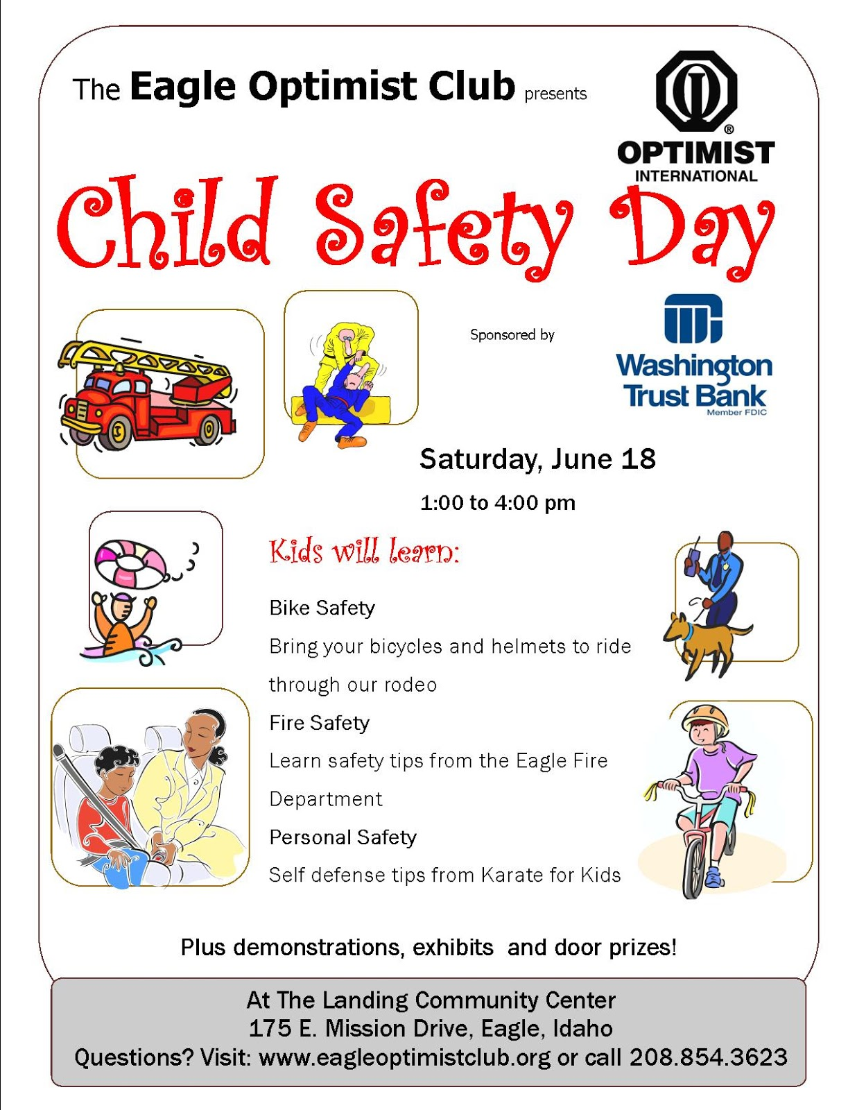 Pnw District Optimist Clubs This Saturday Is Child Safety